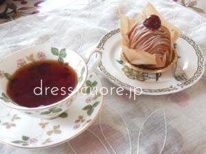 マロングラッセと紅茶